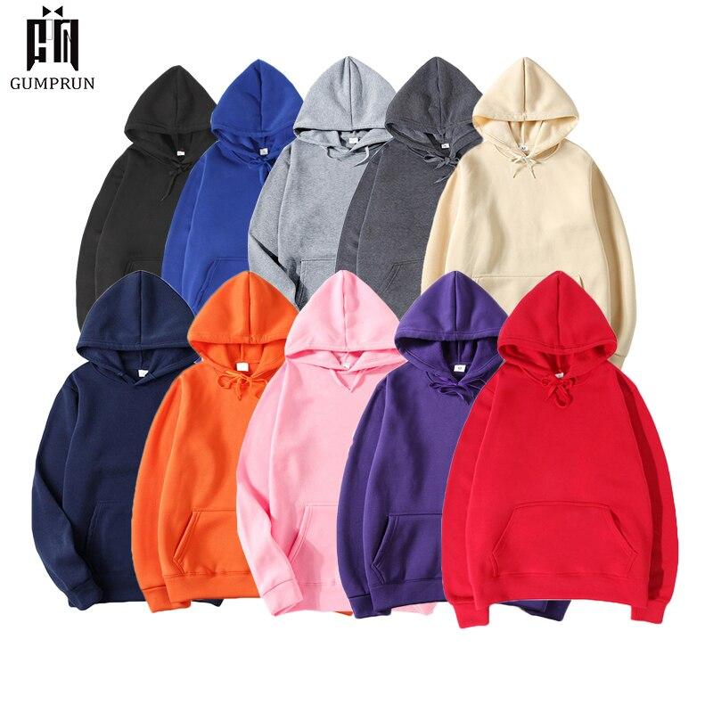 2019 New Autumn Fashion Hoodies Male Warm Fleece Coat Men's Solid ColorHooded Men Brand Hoodies Streetwear Casual Sweatshirts