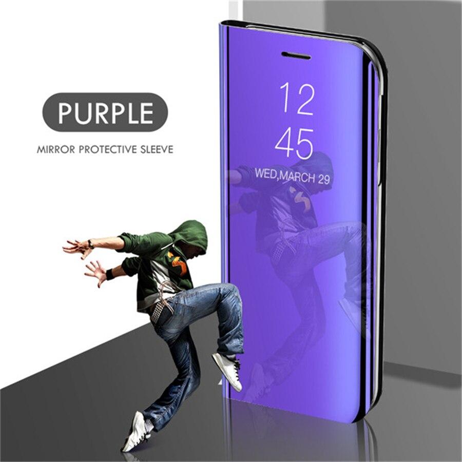 Smart mi rror чехол для телефона для Xiao mi Red mi Note 8 7 K20 5 6 iPad Pro 4 4X 8A 6 6A 7A Plus mi 9 SE 9T 8 Lite A1 A2 A3 5X 6X mi x 2 крышка - Цвет: Purple