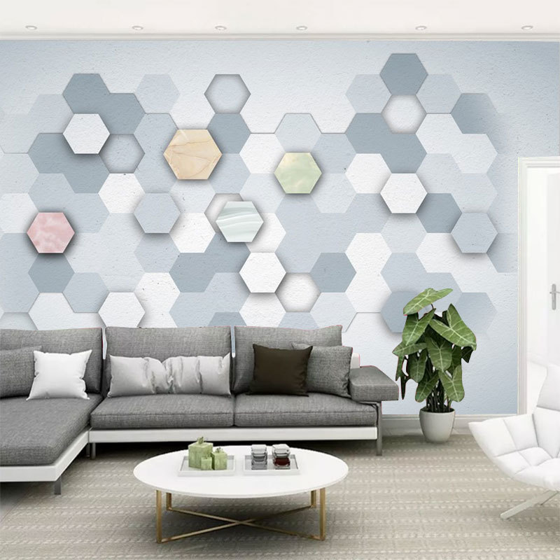 Cool Modern Minimalist Seamless Wallpaper Living Room Bedroom Environmentally Friendly Wallpaper TV Backdrop Customize The Mural