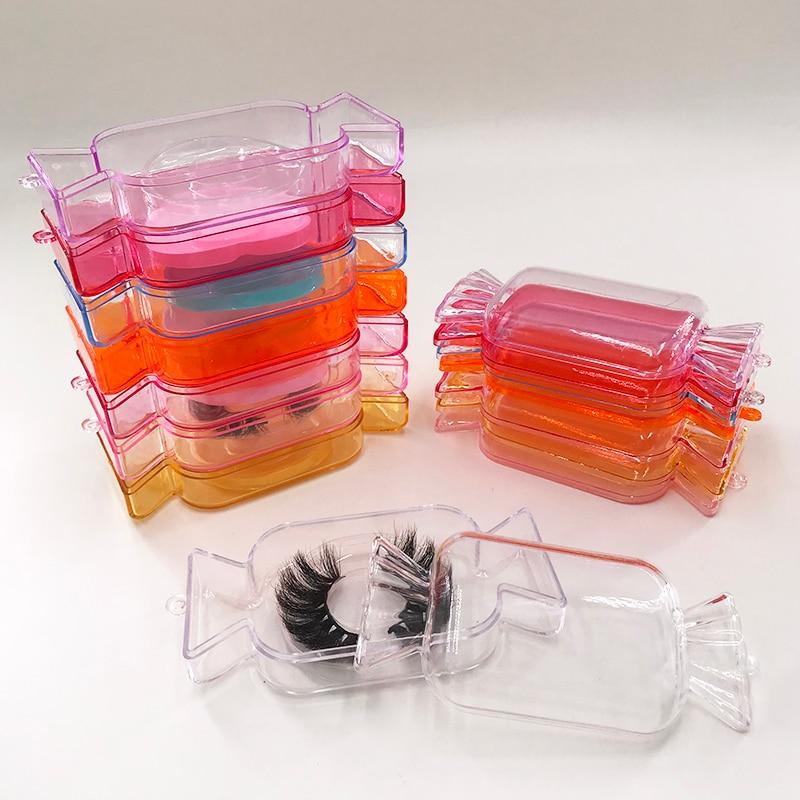 Livre holográfico sacos roxo doces lash caixa