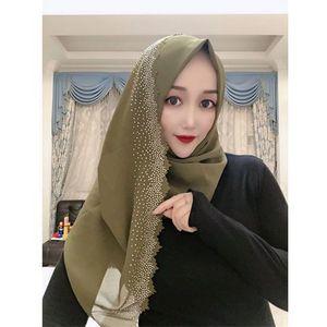 Image 2 - E2 10 pçs de alta qualidade corte a laser chiffon hijab xale cachecol feminino cachecol/cachecol senhora envoltório xale 180*75cm pode escolher cores