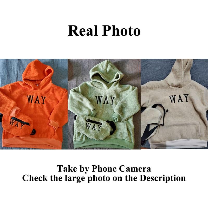 VFOCHI Boy Girl Sweatshirts with Bag Winter Wool Thick Children Hooded Long Sleeves Sweatshirt Unisex Warm Boy Girls Sweatshirts 6