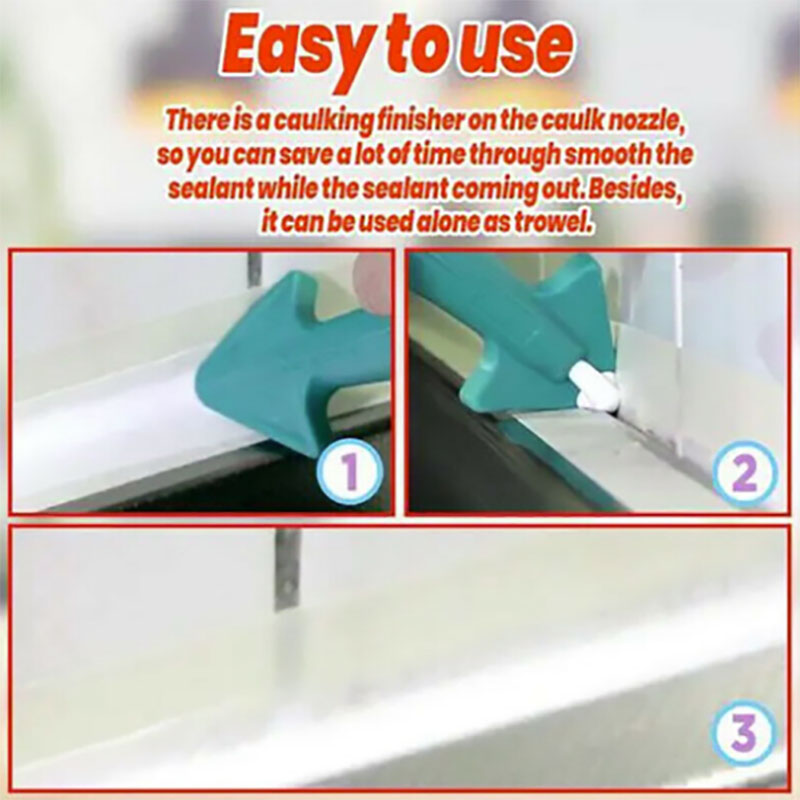 3 in 1 Silicone Caulking Finisher Tool Nozzle Spatulas Filler Spreader Tool 1