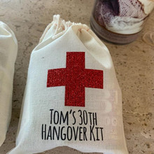 Glitter party favor bag welcome custom bachelorette hangovers Bag wedding birthday gift bags Survival Emergency Kit