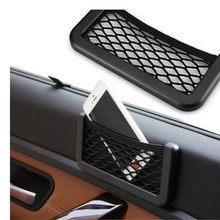 Für Peugeot Partner Citroen Berlingo II 2008-2018 Auto Net Tasche Telefon Halter Lagerung Tasche Veranstalter Auto Mesh Stamm net Halter