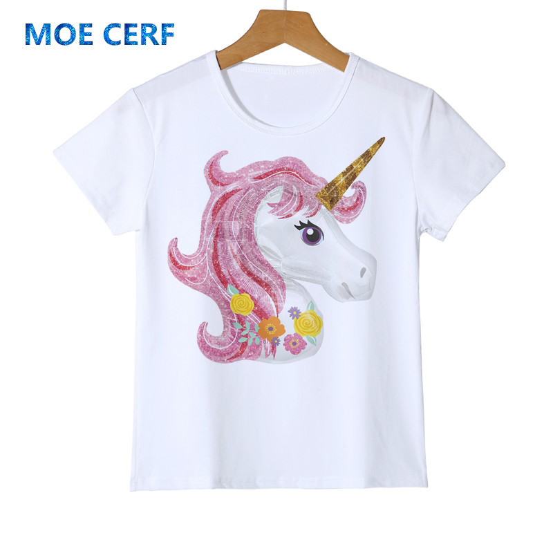 Dabbing Unicorn Toddler Baby Girls Short Sleeve Ruffle T-Shirt