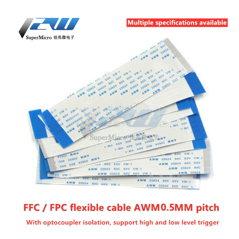 10PCS Flat flexible cable FFC FPC LCD cable AWM 20624 80C 60V VW-1 FFC-0.5MM