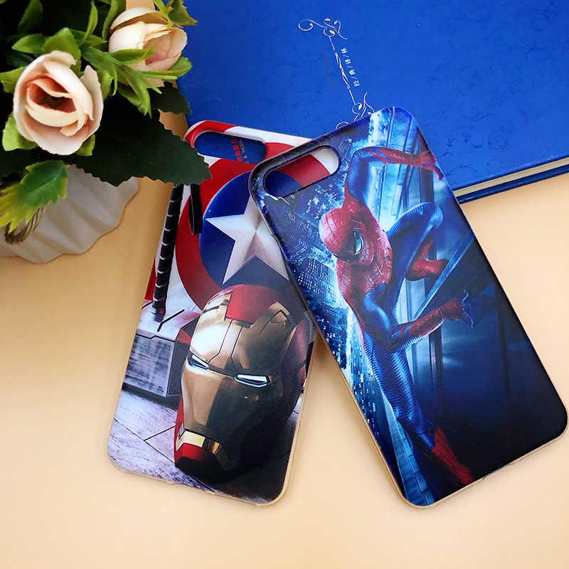 Superhero Copertura Della Cassa Del Telefono per Huawei Compagno di 20 20X10 9 Pro Lite Più Il Superman Della Copertura Posteriore Borse per huawei Mate 8 7 Fundas Borsette