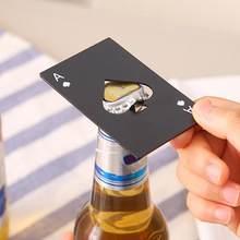 Ouvre-bouteille de bière en acier inoxydable, Mini bêche, carte de Poker, gadget pratique et léger, nouveauté élégante, offre spéciale