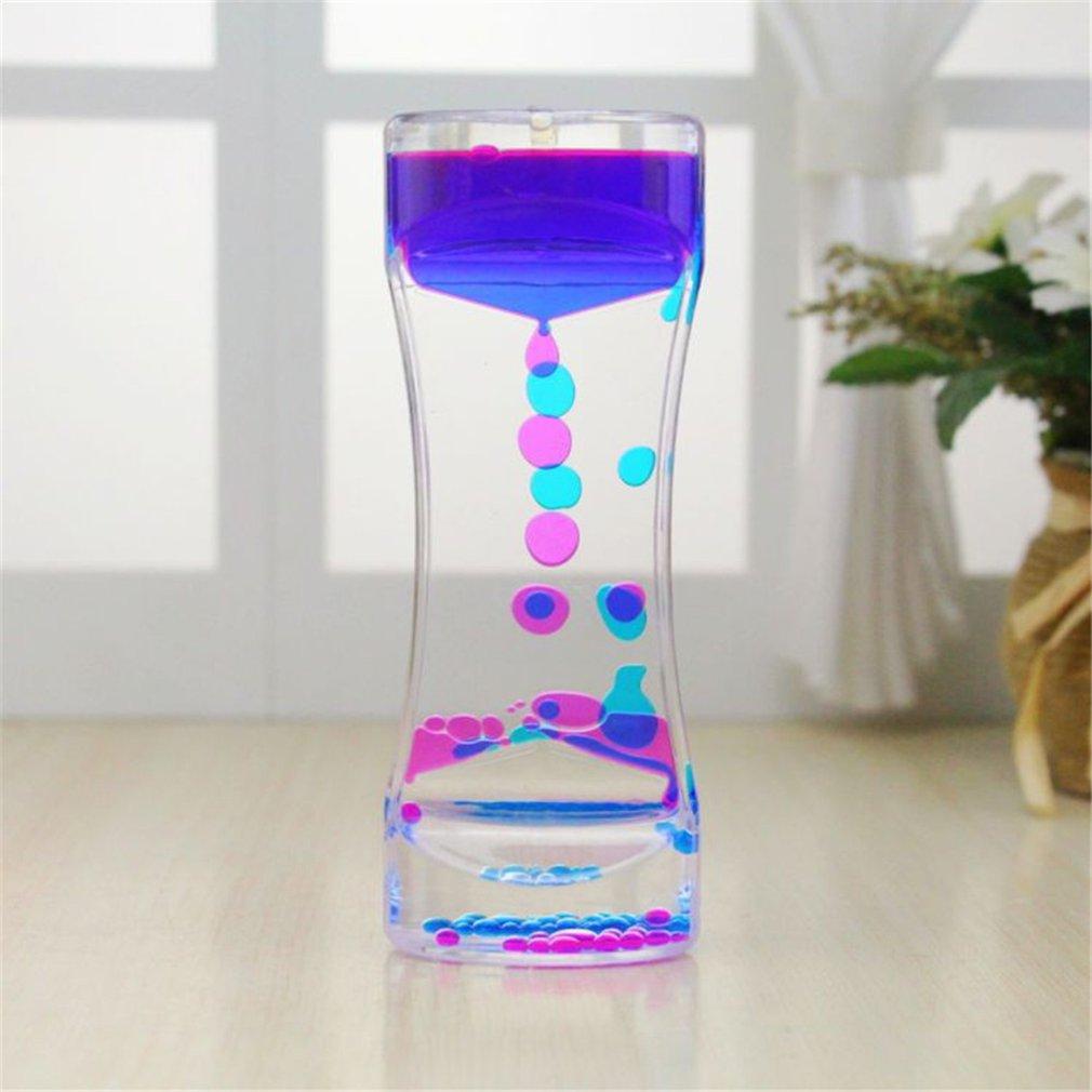 Flüssigkeit Bewegung Timer Bubbler Beste Sensorischen Spielzeug für Entspannung, Flüssigkeit Bewegung Timer Spielzeug Schwimm Farbe Mini Lava Lampe Timer