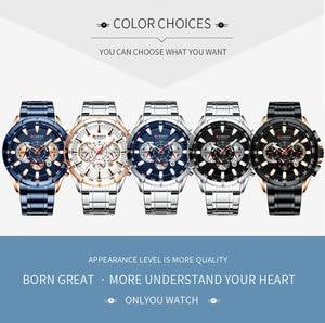 Image 5 - CURREN mężczyzna zegarek wodoodporny chronograf mężczyźni oglądać wojskowy Top marka luksusowe srebrny ze stali nierdzewnej Sport mężczyzna zegar 8363