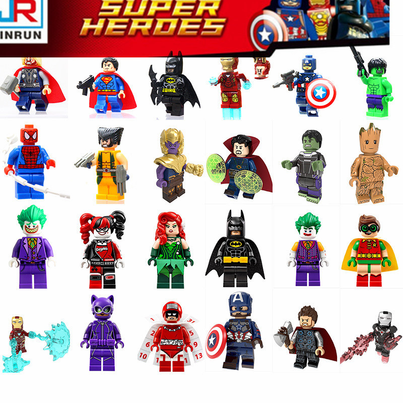 Super Heroes Marvel The Avengers 4 Movie Legoed Figures Action Model Building Blocks Figurines Toys For Children