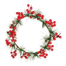 Рождественское украшение, венок, настенный, красный, фруктовый, сосна, конус, сосна, украшение иглы, дверь, висячая гирлянда, украшение