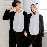 Единорог взрослых животных кигуруми пижамы мультфильм комплект одежды с рисунком панды пижамы Косплей Комбинезоны для женщин мужчин зима ...