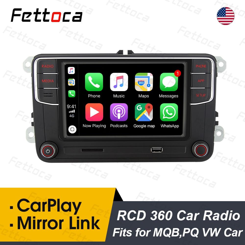 Автомобильное радио FETTOCA RCD360 Plus MIB Carplay DS RCD330, головное устройство Mirror Link для VW Polo Golf Passat Jetta MK5 MK6 B6 B7 Eos Bettle