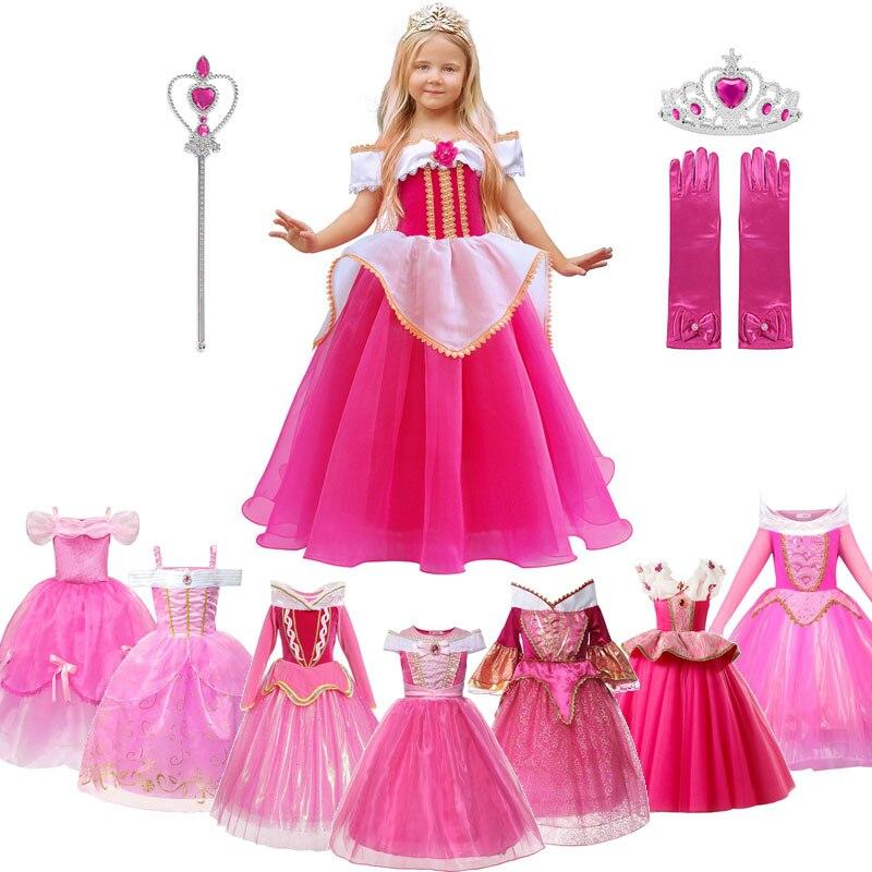 Disfraz de princesa Aurora para niñas MUABABY, hombro caído, Bella Durmiente, vestido de fiesta para desfile, Halloween, vestido elegante, ropa L.O.L. ¡Sorpresa! Lol dolls, juguetes para sorpresa, muñeca bonita para el pelo, caja ciega Manual DIY, modelo de muñeca de juguete, regalo enviado al azar