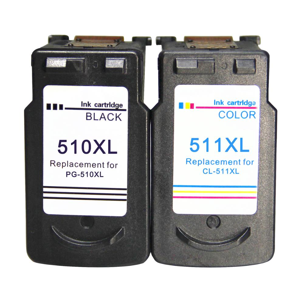 Canon remanufaturados PG-510 CL-511 XL Cartuchos de tinta para Canon Pixma IP2700 MP240 MP270 MP280 MP490 MP495 MX320 MX340