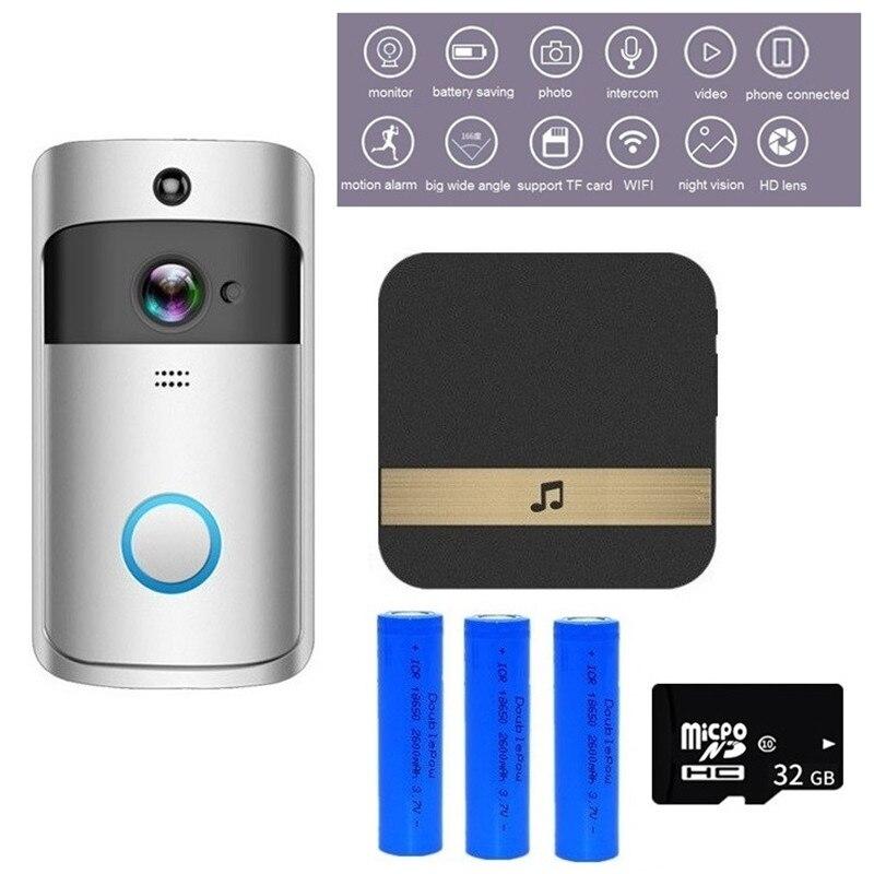 WIFI Doorbell Camera Smart Video Intercom WI-FI Video Door Phone Door Bell IR Alarm Wireless Security Camera Night Vision