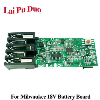 For Milwaukee M18 18V Replacement PCB Board Electric Power Tool Lithium Battery Protection Circuit Board replacement usb dc 5v humidifier circuit board atomizing drive plate environmental protection pcb circuit board with ic chip