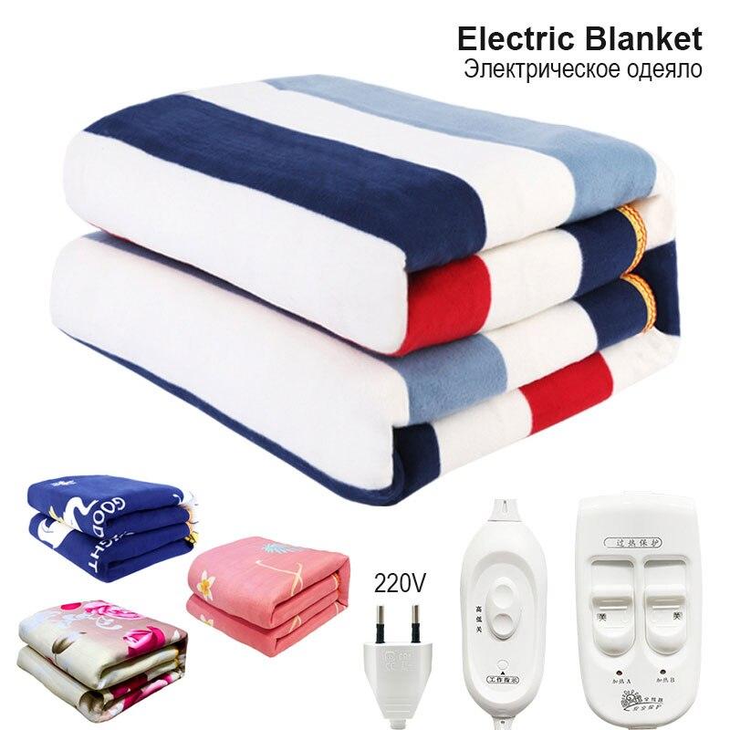 Автоматический термостат с электрическим подогревом 220 В, одеяло для заброса, Электрический матрац с подогревом для кровати, ковер с вилкой европейского стандарта Электроодеяла      АлиЭкспресс