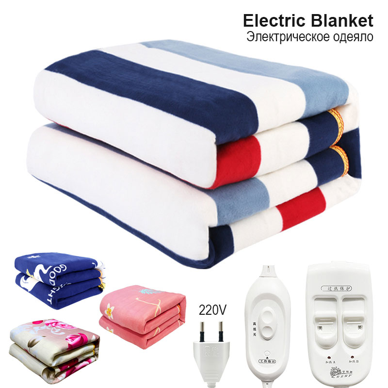 220V Automatic Electric Heating Thermostat Throw Blanket Double Body Warmer Bed Electric Mattress Heated Carpets Mat EU Plug