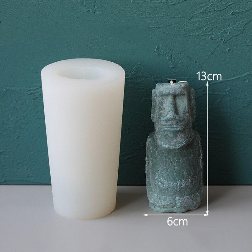 Estátua do vintage vela moldes de silicone
