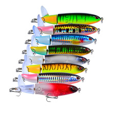 1 Pcs Whopper plopper 11cm 15g Floating Popper Fishing Lure Artificial Hard Bait Wobbler Rotating Tail Tackle 3D Eyes