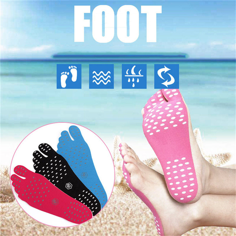 Beach Shoe Invisible Sticker Adhesive Beach Insoles Pads Soles Elastic Flexible Pool Barefoot Anti-slip Pads Foot Care Sandals