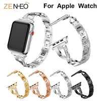 Per Apple Watch band 40 millimetri 44 millimetri 38 millimetri 42 millimetri delle donne di Diamante Della Fascia per iWatch serie 4 3 2 1 braccialetto cinturino in acciaio inossidabile Wristband