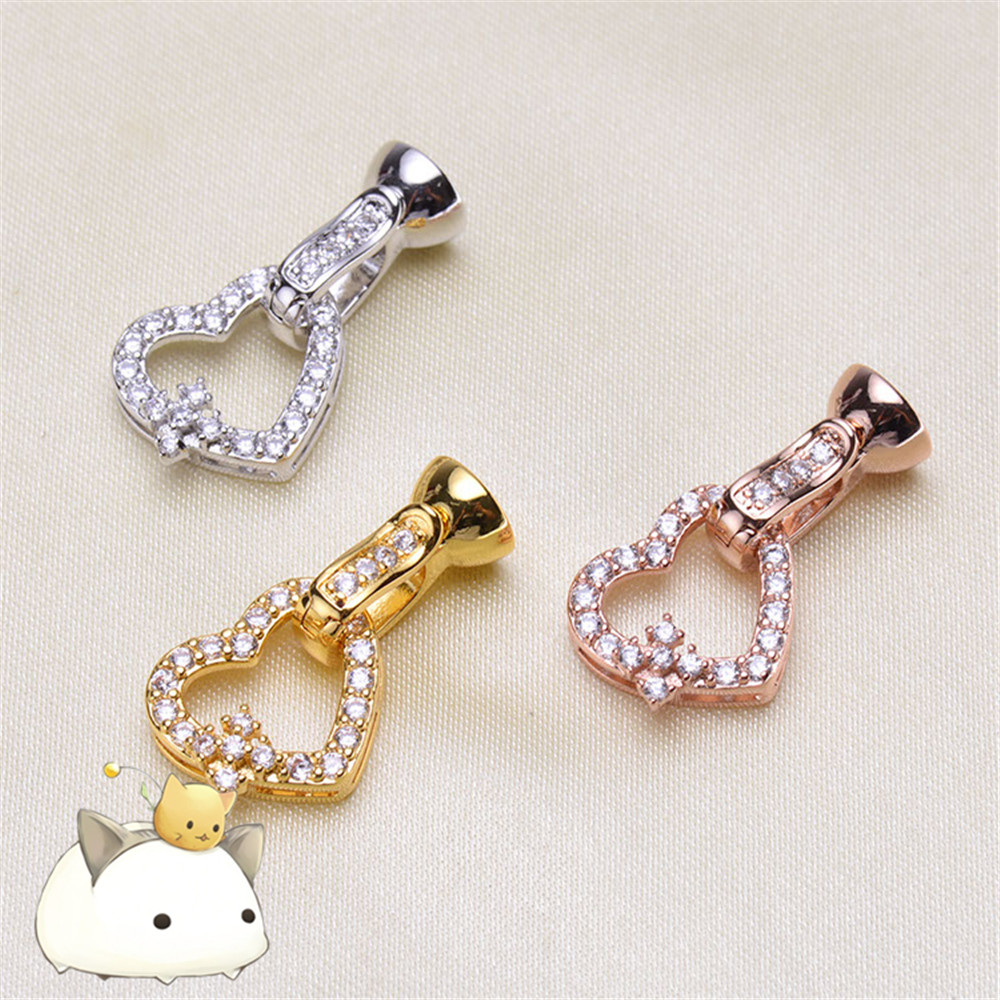 High Quality Copper Clasps Accessories For DIY Jewelry Bracelet Making Clasps & Hooks For Pearls Necklace Jewelry Making P-026
