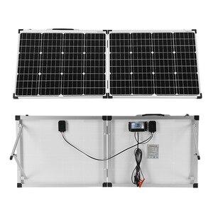 Image 2 - Dokio 100 Вт складной Панели солнечные Китай (2 шт х 50 Вт) 18V + 10A 12В контроллер элемент для солнечной батареи/модуль/Системы Зарядное устройство