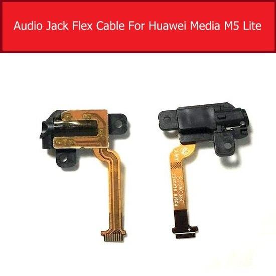 Genuine Headphone Audio Jack Flex Cable For Huawei MediaPad M5 Lite 10.1inch BAH2-W09 W19 AL10 AL09 Earphone Port Flex Ribbon