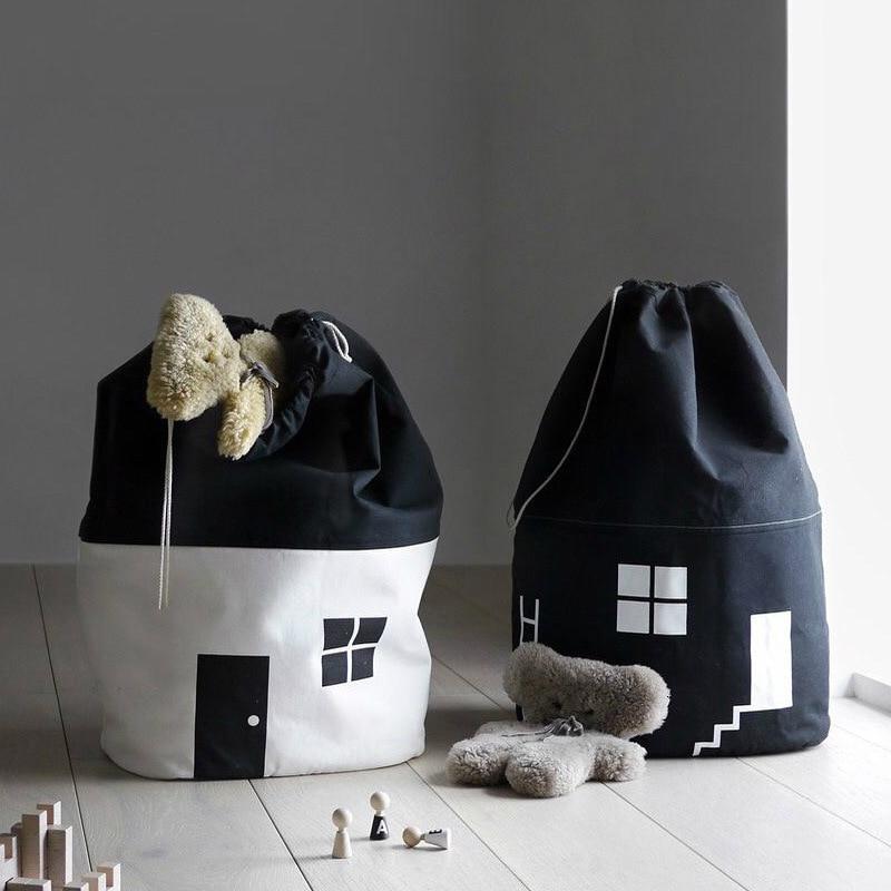 Raum Dekoration Große Kapazität Nette Haus Lagerung Tasche Kinder Kinder Spielzeug Baby Baumwolle Leinwand Spielzeug Strahl Port Pouch Wohnkultur 65*40