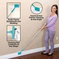 Rodapé Rodapé Microfibra Cleaner Tool Longa Alça Ajustável & Molding Ferramenta De Limpeza para a Casa de Banho Tolet