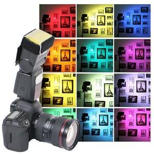 Image 2 - 12 Colors Camera Flash Diffuse Gels Filter Transparent Color Balance Lighting Filter Kit for Photo Studio Camera Accessories