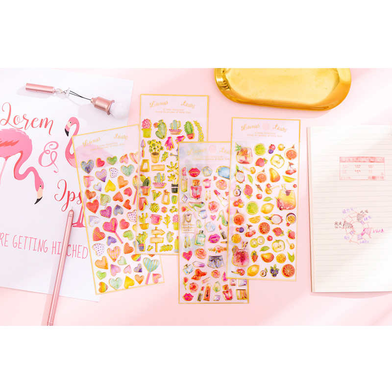 1pcs lot Lovely Sweet Cake Crystal Epoxy DIY Album Diary Mobile Phone Decorative Stickers Mini Stickers Student Stationery Gift in Stationery Stickers from Office School Supplies