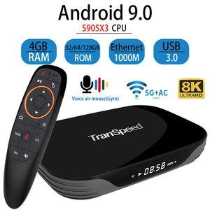 Image 1 - Transpeed X3 空気アンドロイド 9.0 テレビボックス 8 18k 4 18k超xdr youtube 1000 メートルwifi amlogic S905X3 4 ギガバイト 32 ギガバイト 64 ギガバイト 128 ギガバイトtvボックス