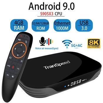 Transpeed X3 AIR Android 9.0 TV, pudełko 8K 4K Ultra XDR Youtube 1000M wifi Amlogic S905X3 4GB 32GB 64GB 128GB IPTV TV, pudełko
