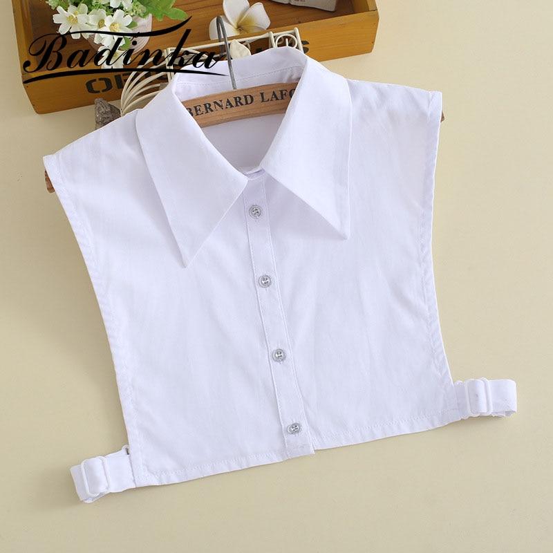Badinka 2020 New Autumn Winter Ladies White Removable False Collar Faux Col Detachable Collars For Women Blouse Shirt Sweater