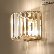 Modern LED Crystal Wall Lamp Lighting Creative Personality Living Room Wall  Bedroom Bedside Sconces Aisle Light Luxury Fixtures modern chinese style wood wall lamp wooden acrylic tree shape living room led bedroom bedside wall sconces