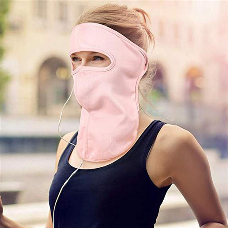 2 Pieces Unisex Face Mask Sun Protective Face Cover Women UV Protection Mask #40