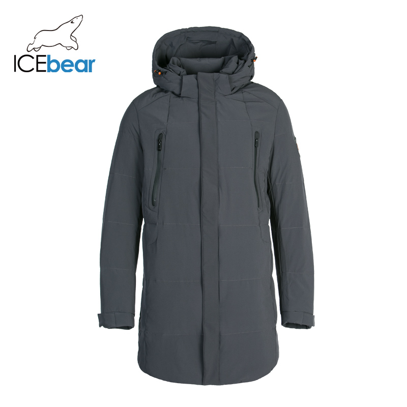 ICEbear New Winter Down Jacket Men Warm Padded Hooded Overcoat Fashion Casual Parka Male Coats Hoodies Men's Clothing DD4YA056F