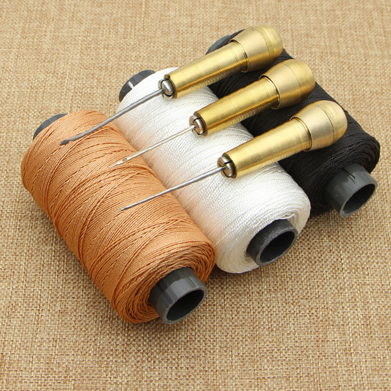 1 Set Removable replacement leather hand stitching tools kit Shoes Repair awl leather craft needle diy Sewing Supplies image