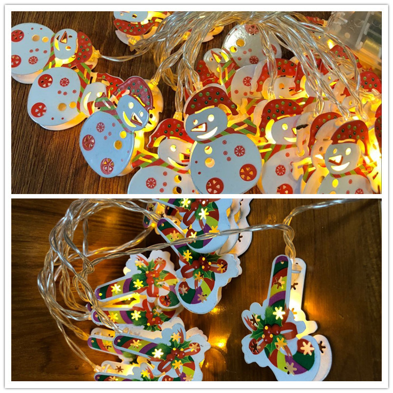 1 5M 10pcs LED Christmas Tree House Style Fairy Light Led String Wedding Natal Garland New Year Christmas Decorations for Home in Party DIY Decorations from Home Garden