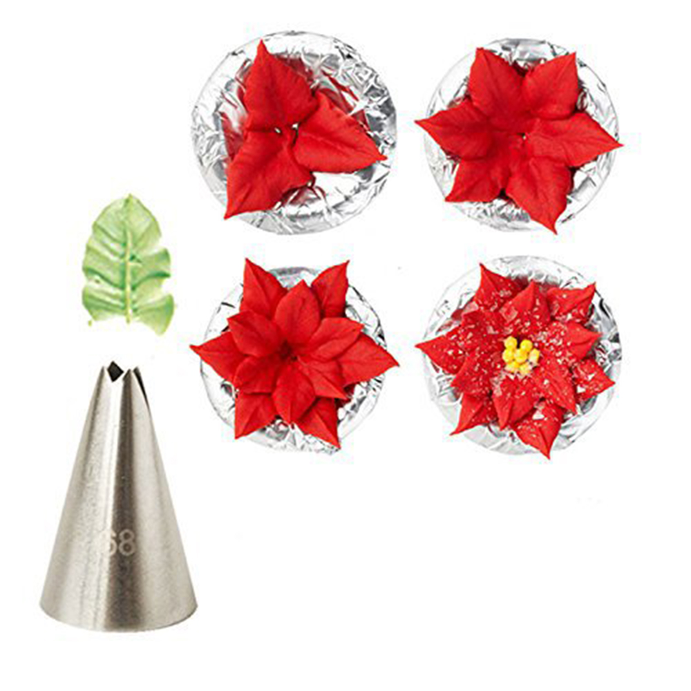 7 Pcs/set Leaf Shape Pastry Tube Stainless Steel Frosting Piping Nozzles Cake Cream Decoration Cupcake Pastry Tools