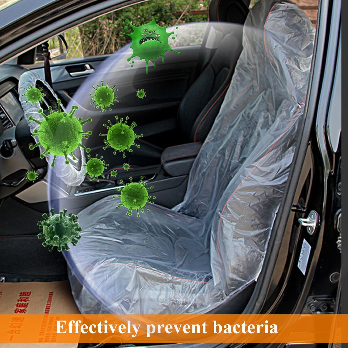 10/20/50 Set Disposable Transparent Car Seat Protective Covers Plastic Workshop Garage Interiors Accessories
