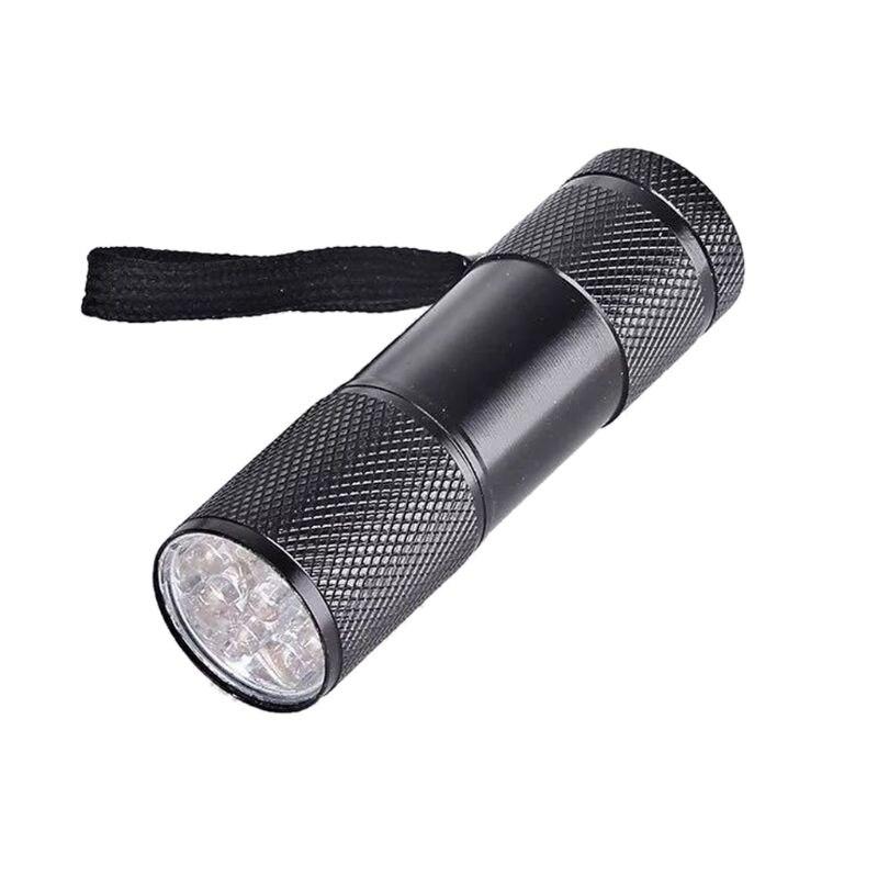 9W UV Resin Curing Lamp Light 9 LED 395nm UV Blacklight Flashlights Jewelry Tool T4MD