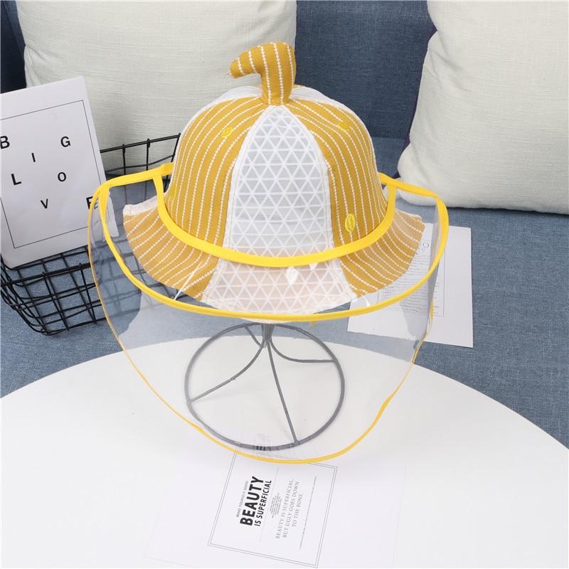 2020 Fashion Summer Child's Anti-spatter Fisherman Cap Dustproof Anti-fog Anti-saliva Removable Full Face Shield Protective Hats