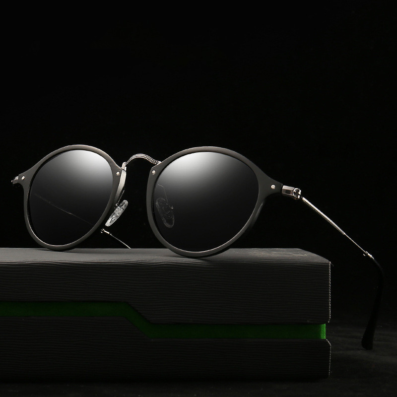 Polarized  Round Sunglasses Coating Retro Men Women Brand Designer Sunglasses Vintage Mirrored Glasses M228