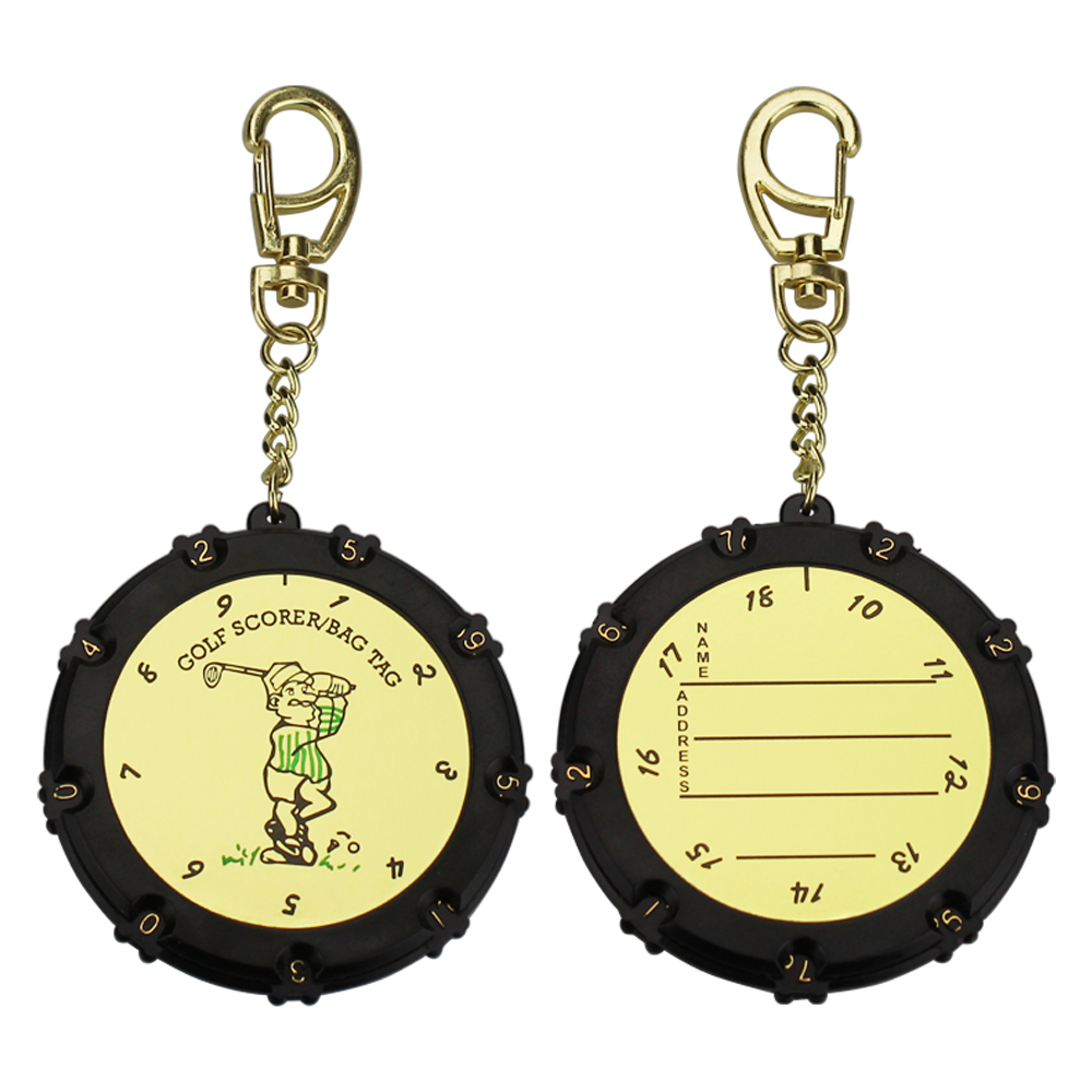 1 Pcs Golf Score Counter 18 Holes Golf Stroke Shot Putt Score Counter Tally Keeper With Key Chain Drop Ship